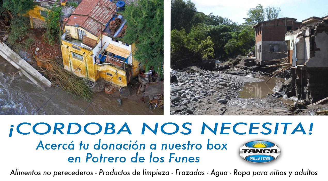 Ayuda para los damnificados por las inundaciones en Sierras Chicas